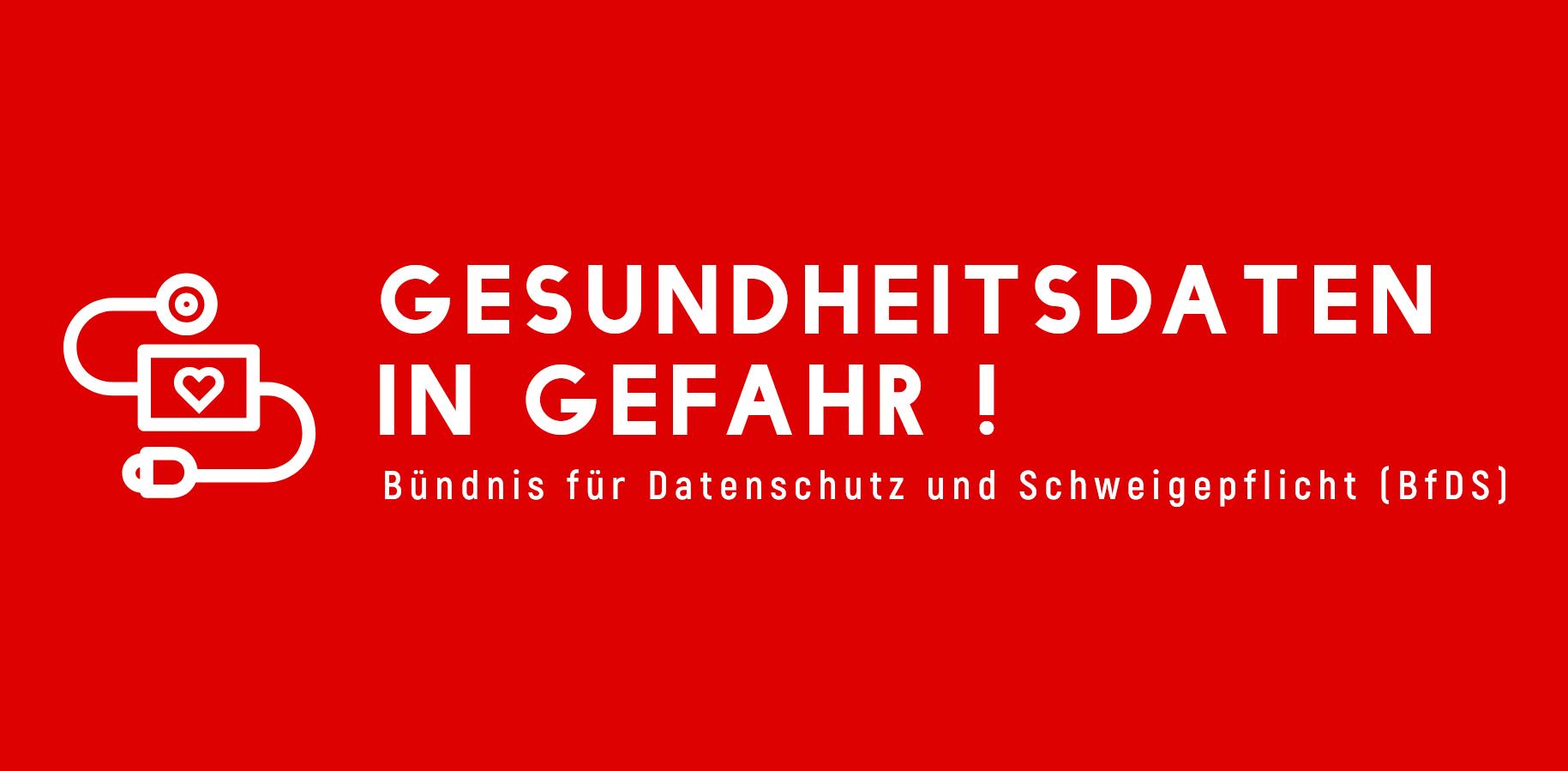 Logo des Bündnis für Datenschutz und Schweigepflicht
